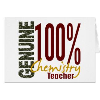 Genuine Chemistry Teacher Greeting Card