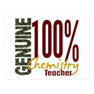 Genuine Chemistry Teacher Postcard