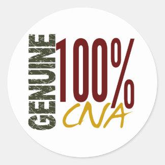 Genuine CNA Round Sticker