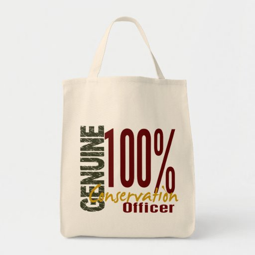Genuine Conservation Officer Tote Bags