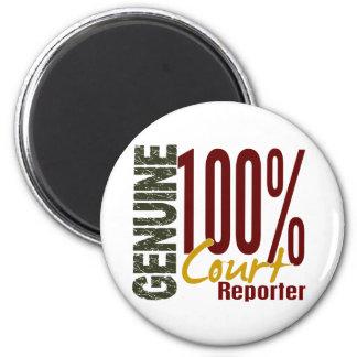 Genuine Court Reporter 2 Inch Round Magnet