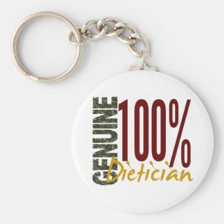 Genuine Dietician Basic Round Button Keychain