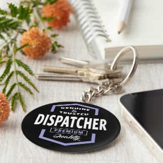 Genuine Dispatcher Gift Ideas Keychain