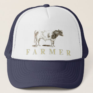 Genuine Farmer Cap With Big Old Bull Logo