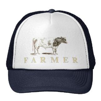 Genuine Farmer Cap With Big Old Bull Logo Trucker Hat