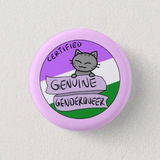 Genuine Genderqueer 1 Inch Round Button