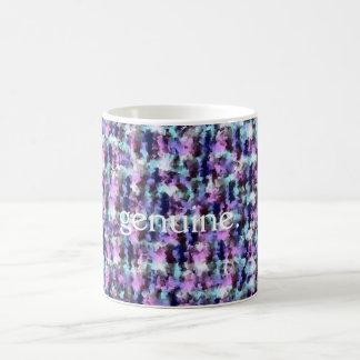 Genuine mug, abstract background coffee mug