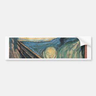 Genuine,Munch,reproduction,the scream,vintage art Bumper Sticker