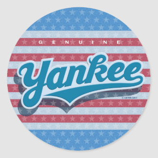 Genuine Yankee - blue/starsstripes) Classic Round Sticker