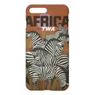 Genuine Zebra Vintage Africa Travel iPhone 7 Plus Case