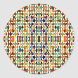 [GEO-ABS-1] Abstract oval pattern Classic Round Sticker