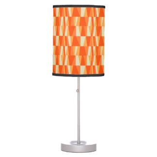 Geo Abstract Triangle Patchwork tiger lily pumpkin Table Lamp