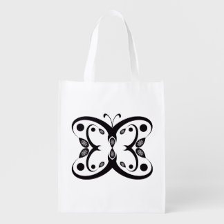 Geo Butterfly Reusable Grocery Bag