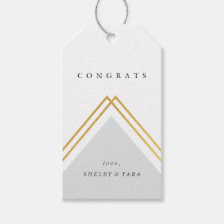 Geo congrats faux foil gift tag | pack of ten