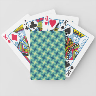 Geo Cross Pattern Bicycle Playing Cards