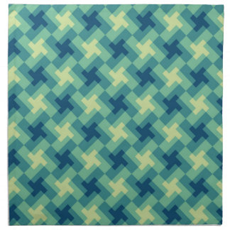 Geo Cross Pattern Cloth Napkin