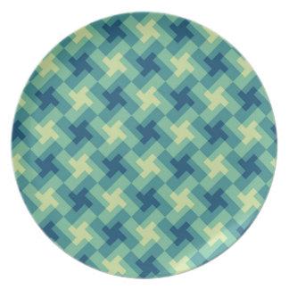 Geo Cross Pattern Plate