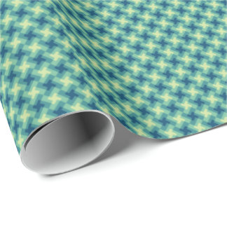 Geo Cross Pattern Wrapping Paper