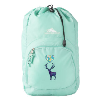 Geo Deer Heart Backpack
