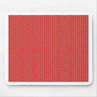 Geo Dots Hot Red Mouse Pad