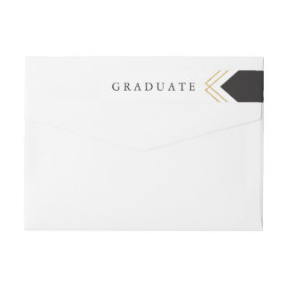 Geo Graduation faux foil return address label