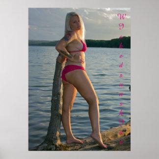 Geo lace bikini poster