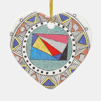 geo mandala christmas ornament