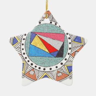 geo mandala ornament
