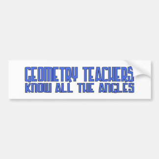 Geo Teach Angles Blue Bumper Sticker
