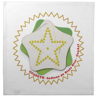 GEOART STAR INDIANA GEOCACHING NAPKIN