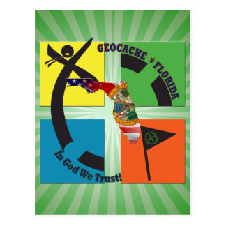 GEOCACE FLORIDA STATE MOTTO GEOCACHER POSTCARD