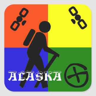 Geocache Alaska Square Sticker