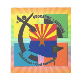 GEOCACHE ARIZONA MOTTO GOD ENRICHES NOTEPAD