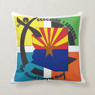GEOCACHE ARIZONA STATE NICKNAME THROW PILLOW