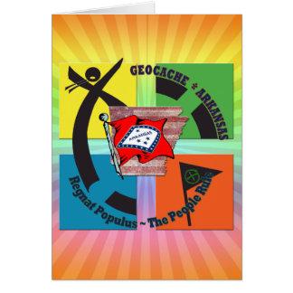 GEOCACHE ARKANSAS MOTTO PEOPLE RULE CARD
