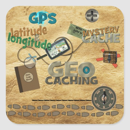Geocache Fever - Customize Square Sticker