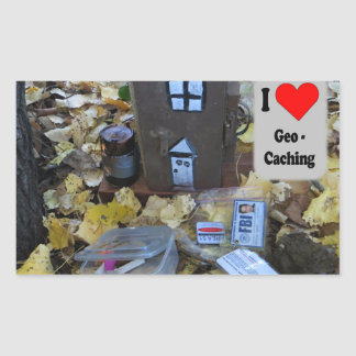 Geocache in the leaves sticker