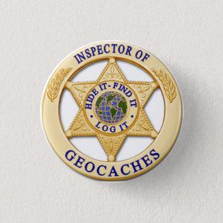 Geocache Inspector -Hide, Find,Log Badge 1 Inch Round Button