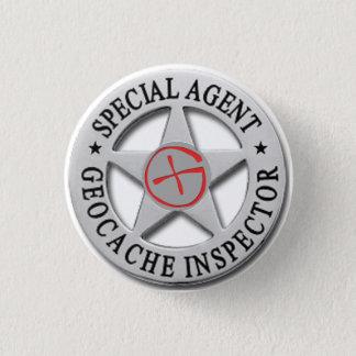 Geocache Inspector *Special Agent* w/logo 1 Inch Round Button