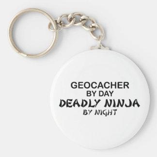 Geocacher Deadly Ninja by Night Keychain