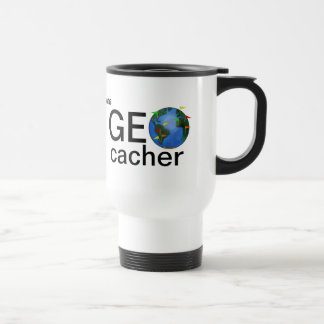 Geocacher Earth Personalized Geocaching Steel Travel Mug