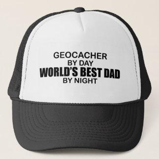 Geocacher World's Best Dad by Night Trucker Hat