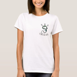 Geocaching Geocacher Green Tattoo Dragon TShirt