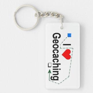 Geocaching keychain