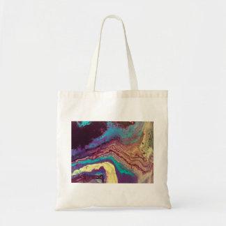 Geode Acrylic Pour Shopping Bag