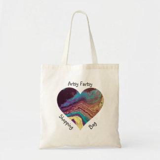 Geode  Heart Acrylic Pour Shopping Bag