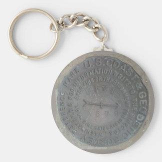 geodetic-survey-marker keychain