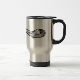 Geoduck Clam (black and white illustration) Travel Mug