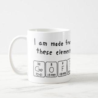 Geoff periodic table name mug