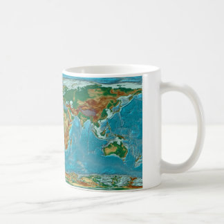 Geographical World Map Coffee Mug